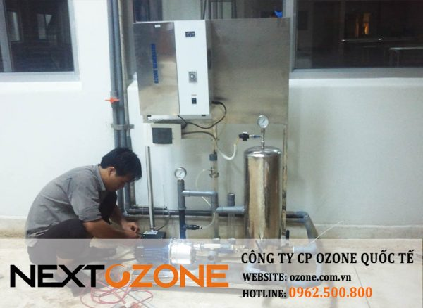 Máy ozone  xử lý nước Thủy sản Bến Tre