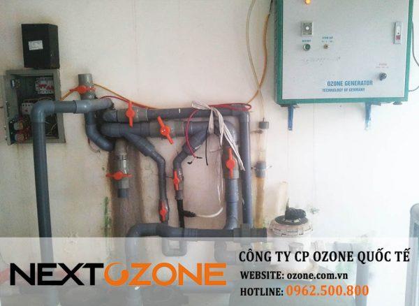 Máy ozone công nghiệp NEXT E04 xử lý nước bể bơi tại Thái Nguyên