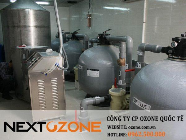 Máy ozone công nghiệp xử lý nước bể bơi tập đoàn Vinacaptial