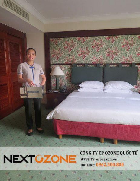 Máy khử mùi ozone tại khách sạn Hilton