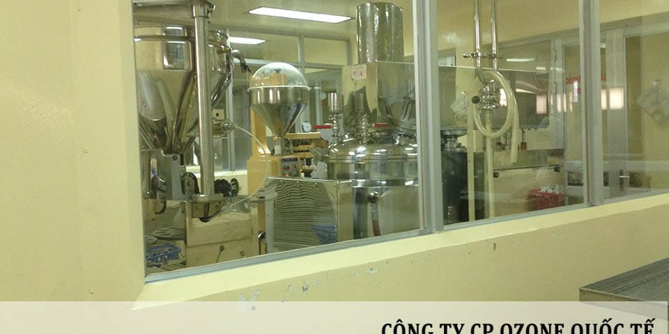 Công nghệ ozone được sử dụng trong xử lý tiệt trùng, khử khuẩn tại Công ty CP Dược Phẩm Hà Tây